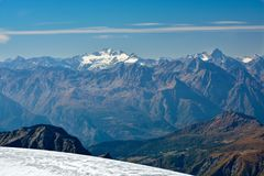 Gran paradiso summit. In Alps Stock Images