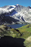 Gran Paradiso valley - Italy. The Gran Paradiso national park and the road that cross between the Serrù and Agnel lake Royalty Free Stock Photography