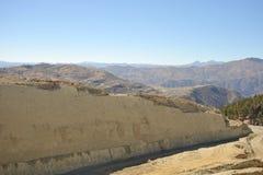 Gran parque del dinosaurio, donde rastros de estos reptiles antiguos Imagen de archivo