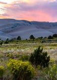 Gran parque nacional de las dunas de arena Fotografía de archivo libre de regalías