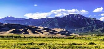 Gran parque nacional de las dunas de arena, CO Imagen de archivo
