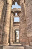 Gran Pasillo hipóstilo en Karnak Imagenes de archivo