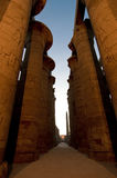 Gran Pasillo hipóstilo en Karnak, Egipto Foto de archivo libre de regalías