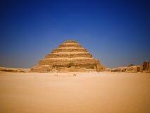 Gran pirámide del paso de progresión de Djoser Fotografía de archivo