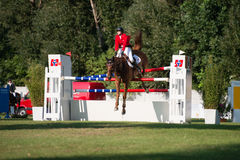 Gran Premio CSIO-W *** 10 agosto 2014 a Bratislava, Slovacchia Fotografia Stock Libera da Diritti