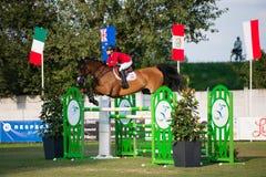 Gran Premio CSIO-W *** 10 agosto 2014 a Bratislava, Slovacchia Fotografia Stock