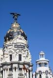 Gran Przez budynków, Madryt Fotografia Stock