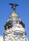 Gran Przez budynków, Madryt Obraz Stock