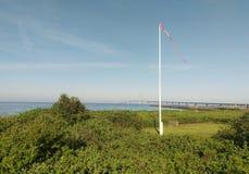 Gran puente colgante de la correa, Dinamarca Fotos de archivo libres de regalías