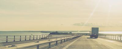Gran puente de la correa, Dinamarca imagen de archivo libre de regalías