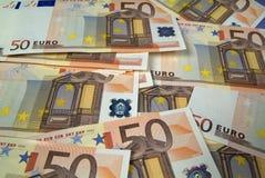Gran quantità degli euro Immagine Stock Libera da Diritti