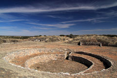 Gran Quivira Ruins. At Salinas National Monument in the State of New Mexico Stock Images