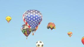 Gran raza del globo de Reno almacen de metraje de vídeo