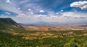 Gran Rift Valley del camino del AMI-Mahiu Narok de Kamandura, K imagen de archivo