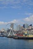 Gran rueda en la costa, Seattle, Washington Foto de archivo