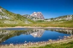 Gran Sasso,园地Imperatore高原,阿布鲁佐,意大利 免版税库存照片