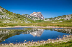 Gran Sasso, плато Campo Imperatore, Абруццо, Италия Стоковые Фотографии RF