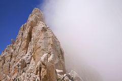 Gran Sasso with fog in italian apennines Stock Image