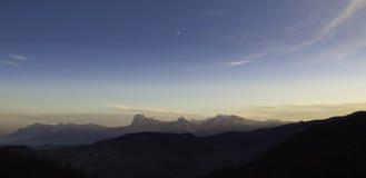 Gran Sasso from Monti della Laga Stock Images