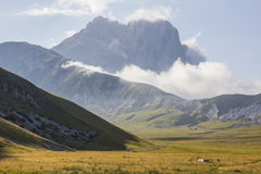Gran Sasso mountain with clouds Stock Images