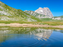 Gran Sasso mountain summit at Campo Imperatore plateau, Abruzzo, Italy Stock Images
