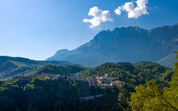 The  Gran Sasso National Park. Italy, view of the country of Castelli in the Gran Sasso national park Royalty Free Stock Photos