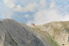 Gran Sasso, Rifugio Duca degli Abruzzi, L'Aquila, Italien Arkivbilder