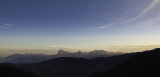 Gran Sasso vom Monti della Laga Stockbilder