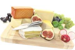 Gran selección de queso Foto de archivo libre de regalías