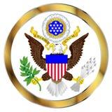 Gran sello de América ilustración del vector