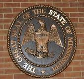 Gran sello de Mississippi en ladrillo fotos de archivo libres de regalías