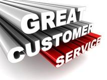Gran servicio de atención al cliente ilustración del vector