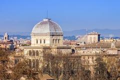 Gran sinagoga de Roma, Italia Foto de archivo libre de regalías