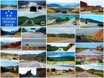 Gran sistema de la autopista de Eisenhower Fotografía de archivo