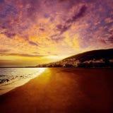 Gran Tarajal海滩费埃特文图拉岛加那利群岛 库存照片