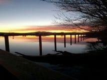Gran tarde de la puesta del sol Fotografía de archivo