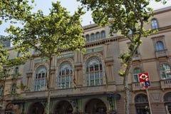 Gran Teatre del Liceu of eenvoudig Liceu in Catalaan, zijn binnen een operahuis op La Rambla stock afbeeldingen