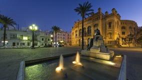 Gran Teatro法利亚卡迪士西班牙 库存照片