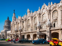 Gran Teatro -最美丽的大厦在哈瓦那旧城 图库摄影