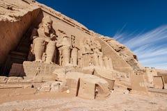 Gran templo construido por Ramesses II en Egipto meridional Abu Simbel Temple cerca de Asuán imágenes de archivo libres de regalías