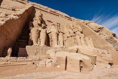 Gran templo construido por Ramesses II en Egipto meridional Abu Simbel Temple cerca de Asuán fotos de archivo