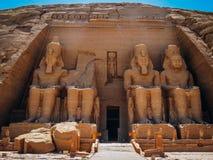Gran templo de Ramses II en Abu Simbel Fotografía de archivo libre de regalías