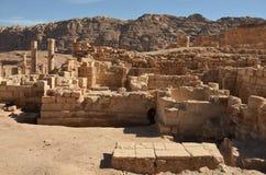 Gran templo, Petra Foto de archivo