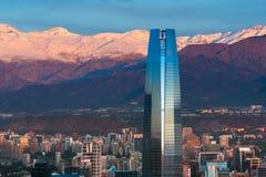 Gran Torre Santiago. Santiago, Region Metropolitana, Chile - December 26, 2016: View Gran Torre Santiago, the tallest building in Latin America, a 64-story tall royalty free stock photography