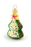 Gran-träd för julgrangarneringleksak som isoleras på vit Arkivfoto