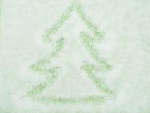 Gran-träd från snöflingor, Royaltyfria Bilder