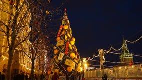 Gran-tree för nytt år arkivfilmer