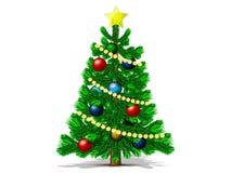 Gran-tree för nytt år stock illustrationer