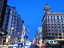 Gran vÃa Μαδρίτη Στοκ εικόνες με δικαίωμα ελεύθερης χρήσης