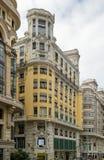 Gran vía la calle, Madrid imagenes de archivo
